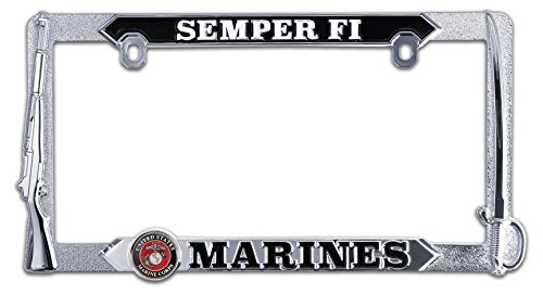 Semper Fi Marines 3D License Plate Frame