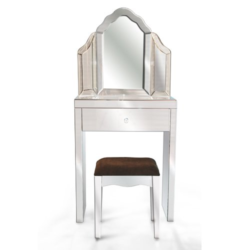 Miraculous Complete Small Venetian Mirrored Glass Dressing Table Set Dailytribune Chair Design For Home Dailytribuneorg