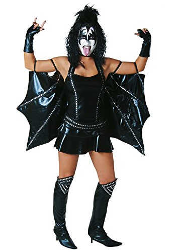 Kiss Costumes Women (Toynk Toys - KISS Demon Sexy Adult Costume - Small)