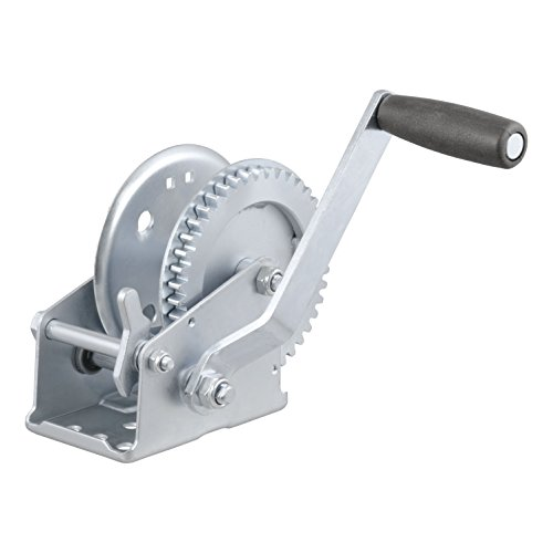 - CURT 29424 Manual Hand Crank Boat Trailer Winch, 1,200 lbs. Capacity