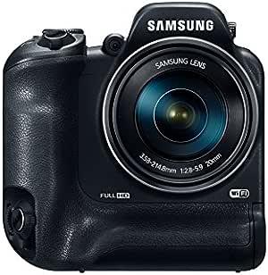 Samsung WB2200 negro/Smart Camera/WiFi/60 x zoom óptico/F2,8~5,9/ Macro 10 cm/CMOS 1/2,3-inch/16,3 MP, 7,62 cm pantalla 460 K LCD/flash integrado/8fps de imagen/Full HD 1080 P/ISO 6400/OIS/panorámicas/HDR/EVF 200 K: Amazon.es: Electrónica
