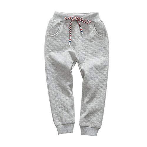 Boy's Cotton Sweatpants Waist Jogger Pants Trousers in Basic Colors(Gray-4T)