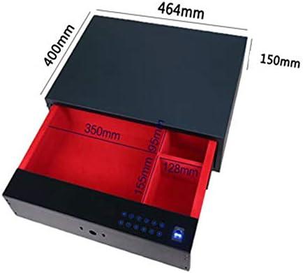 ワードローブパスワードドロワーセーフ、盗難防止スマートホーム隠し指紋セーフ、464mm / 480mm / 564mm