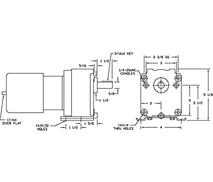 Dayton 3M327 AC Gearmotor, 6.1 RPM, TEFC, 115V, Degrees_Fahrenheit, on