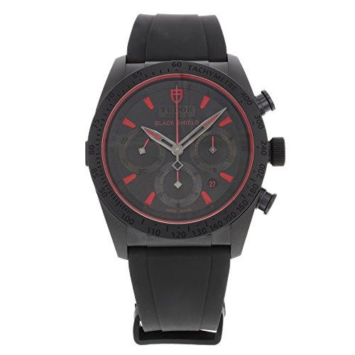 Tudor Fastrider Black Shield Black Dial Blsck Rubber Mens Watch 42000CR-BKSBKRS