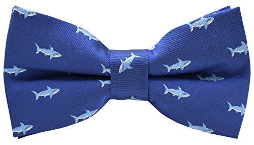 Carahere Mens Bow Ties Handmade Pre-Tied Pattern Bow Ties For Men (Shark pattern-1)
