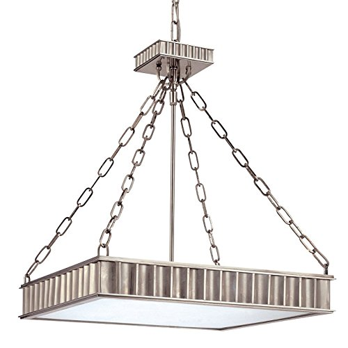 Middlebury 5-Light Pendant - Historic Nickel Finish with Clear/Frosted Glass Shade ()