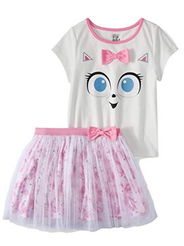 Girls Gidget Pet Dress Tutue Tulle Skirt and Shirt 2 pc Outfit (XS 4-5) Pink (Secret Skirt)