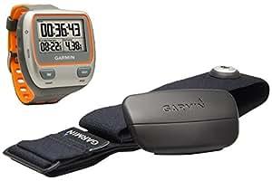 Garmin Forerunner 310XT - Reloj GPS para triatletas con pulsómetro, Gris y Naranja