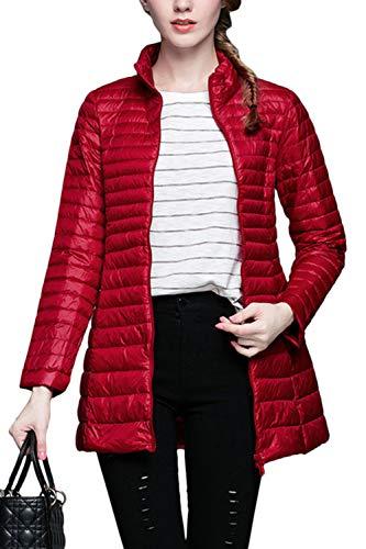 Puffer Leggero Giacche Zip Vepodrau Outwear Le Packable Slim Piena Donne Giacca Red 0wwzq4Cv