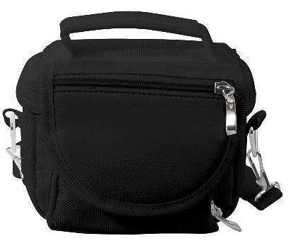 G-HUB Travel bag with Shoulder Strap, Carry Handle, Belt Loop for Nintendo DS Consoles DS / 3DS / DS Lite / 3DS XL / DSi - Black