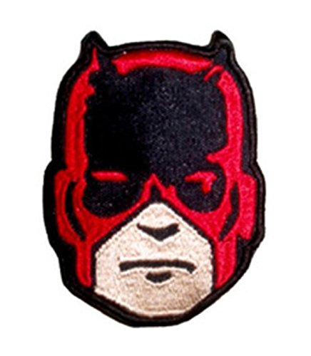 """Daredevil Mask 3.55"""" Embroidered Iron/Sew-on Patch By Outlander"""