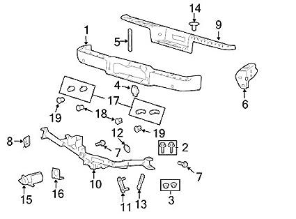 Amazon Com Ford Oem Bumper Face Bar 8l3z17906eptm Image 1 Automotive