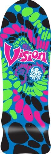 Vision Hippie Stick Reissue Skateboard Deck, Black, 10 x 32.5-Inch