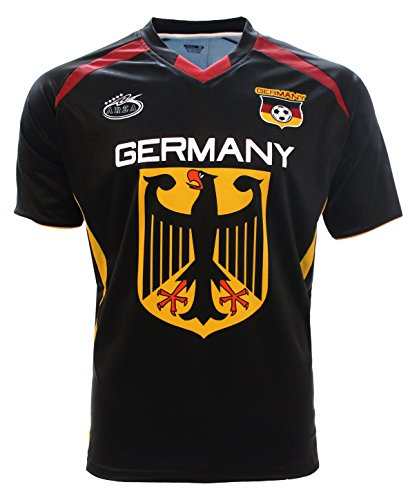 Germany Jersey Arza Design Home and Away (X-Large, Black)