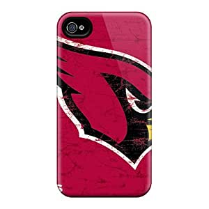 Tpu Case Cover For Iphone 4/4s Strong Protect Case - Arizona Cardinals Design