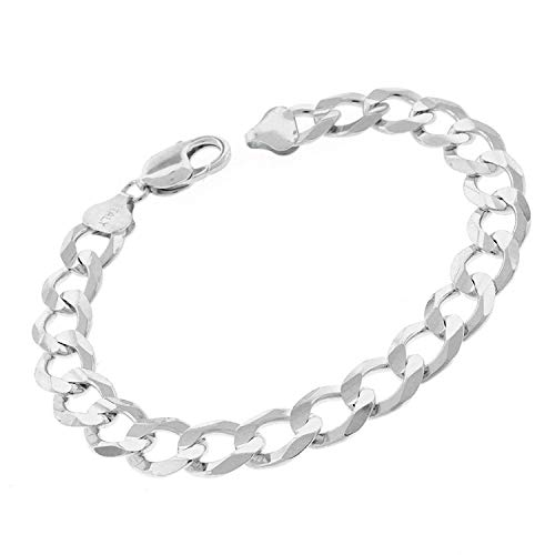 - Authentic Solid Sterling Silver Cuban Curb Link .925 ITProLux Necklace or Bracelet Chains 2MM - 10.5MM, 16