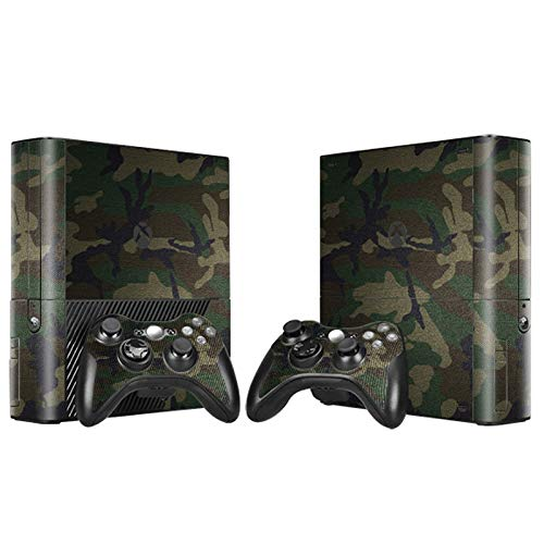 Skin Sticker Decal Cover for Xbox 360 E Console and Remote Controllers Camo ()