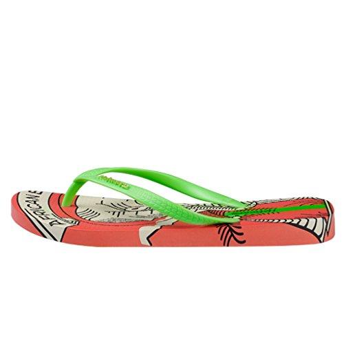 88d24861 Hotmarzz Chanclas para Mujer Elefante Sandalias Playa Verano Casa Ducha  Piscina Flip Flops Naranja Alta calidad