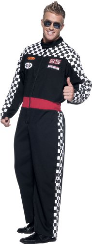 Cars Pit Crew Costume (Men's Race Car Driver Costume - Speed Demon)