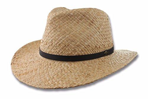 Scala Organic Raffia Straw Outback Hat, Kangaroo Pin, Natural Color, Large/Xlarge ()