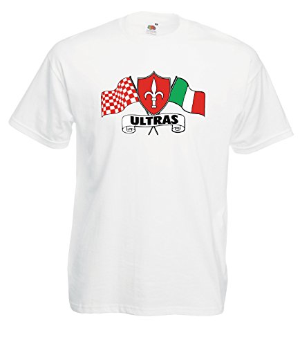 Settantallora - T-shirt Maglietta J1460 Trieste Ultras Flag Bianco