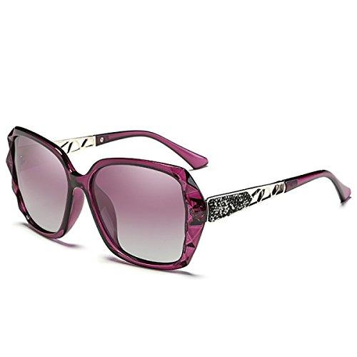Lunettes Lunettes de soleil polarisées lunettes de soleil anti-UV unisexe ( couleur : Pink-purple ) J7mSa