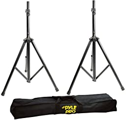 Pyle 2 Pack Heavy-Duty Aluminum Speaker Stand Kit, 8Ft Height, Traveling Bag (Pair)