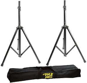 Pyle 2 Pack Heavy-Duty Aluminum Speaker Stand Kit, 8Ft Height, Traveling Bag (Pair)