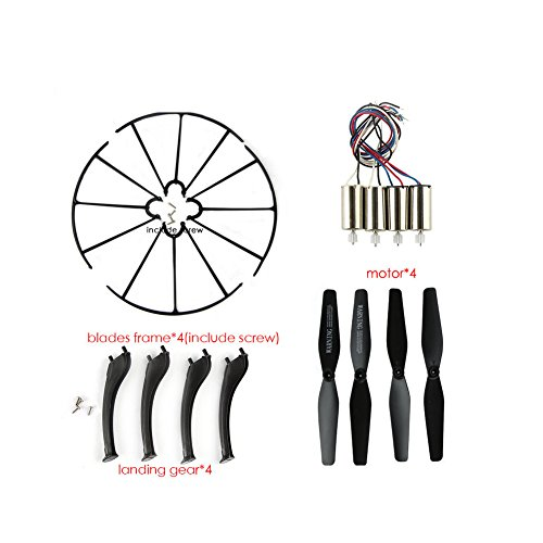 Coolplay Spare Parts Motors,Main Propellers,Protective Propeller Guard,Landing Skid Replacement Syma X5HC X5HW RC Mini Quadcopter