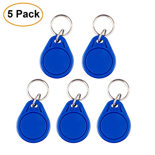 IC Card NFC Smart Key Card Copier Keyfobs Proximity 13.56 MHz Reader Writer for Door Entry Access Control System (Pack of 5)