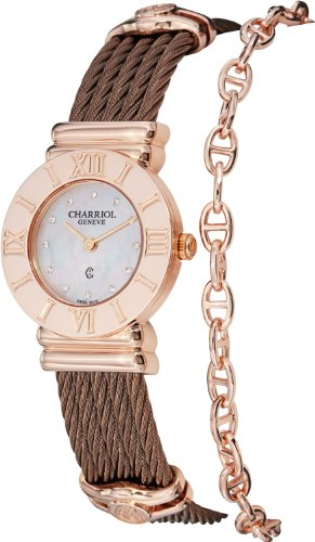 charriol-womens-st-tropez-diamond-dial-bronze-steel-quartz-watch-028rp543326