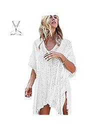 COME2LOOK Women's Bathing Suit Cover up Crochet Lace Bikini Swimsuit Dress Beach Cover Up