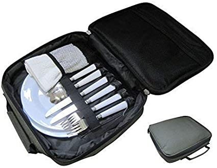 CommonBaits Alimentos Bag con Plato & Cubiertos/Sesión Camping Cuttlery Set
