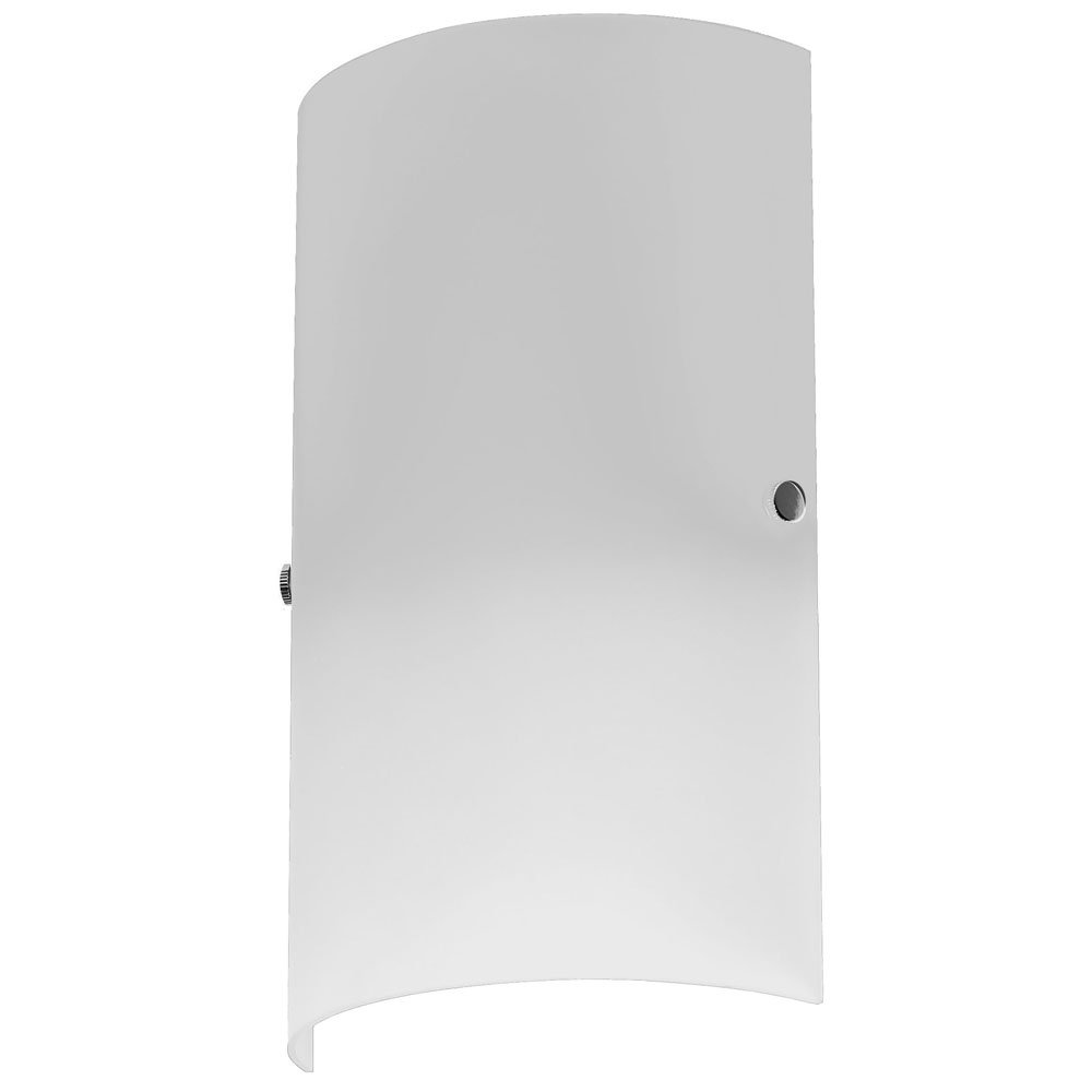 Dainolite 83204-W-WH Single Light Wall Sconce White Glass, White Glass