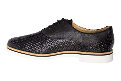 Zapatos Para Janalee Derby Mujer A D Cordones De Geox Negro x1nfq0