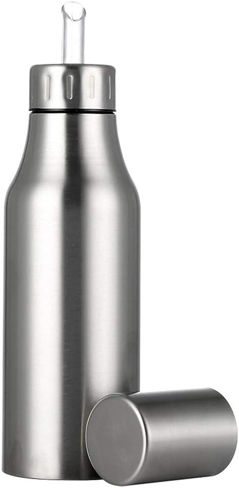 Stainless Steel Olive Oil Pourer Vinegar Dispenser Cooking Oil Jar Can Bottle