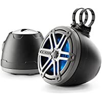 JL Audio PS650-VeX-SG-TMB-LDB Marine Powersports Tower Enclosed 6-1/2 Coaxial Speaker System w/ Titanium Black Sports Grilles