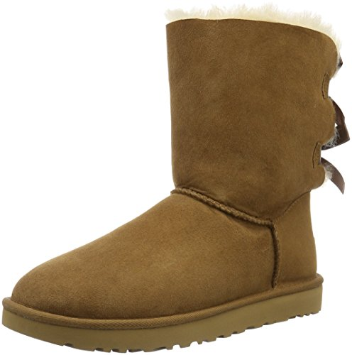(UGG Women's Bailey Bow II Winter Boot, Chestnut, 8 B)