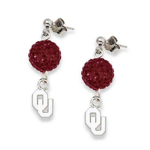 LogoArt University of Oklahoma Crystal Ovation Earrings