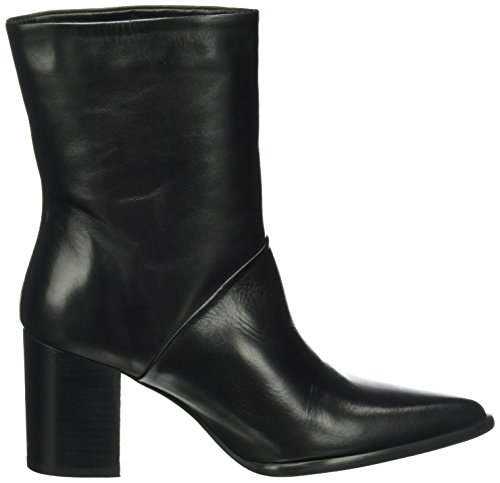 Jja16 Bottines Froide À Femme Bianco Pointy 10 black Inn Noir Boot Doublure qIawFt