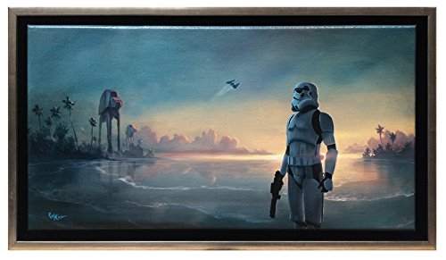 "Rogue One Limited Edition Framed Canvas 17.4"" x 9.4"" ""Scarif Forces"" by Rob Kaz"