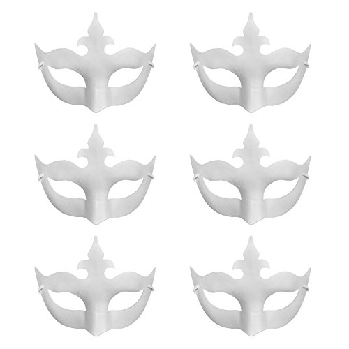 Aspire Bulk DIY Masks Craft Paper Halloween Masquerade Face Mask Decorating Party Costume-crown-1 (Paper Halloween Mask)