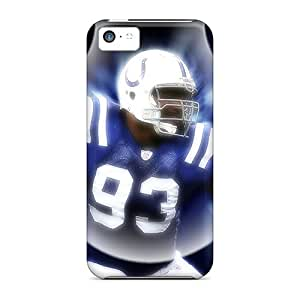 Iphone 5c UEN10663nohS Custom Beautiful Indianapolis Colts Pictures Bumper Phone Case -LauraAdamicska