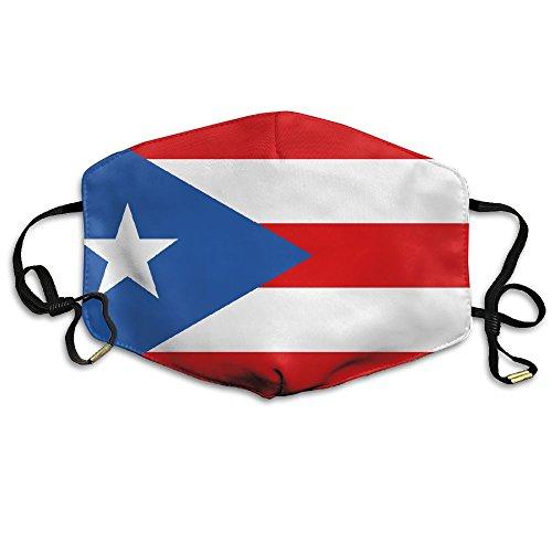KZ MASKS Unisex Flag Of Puerto Rico Printed Cotton Mouth-Masks Face Mask Polyester Anti-dust Masks