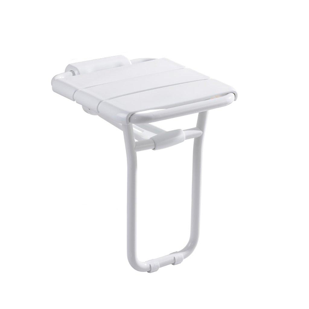 XUEPING バスタブシャワースツール折りたたみシャワーの壁のスツールシートのドレッシングスツールバスルームの手すり壁掛けの防錆シャワースツール (色 : A) B07D7YLD8G  A