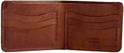 Jackson Wayne Full Grain Leather Bifold Wallet Multi-Card Holder