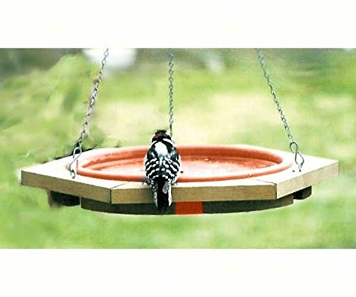 2 PACK Mini Hanging Bird Bath Clay Tray