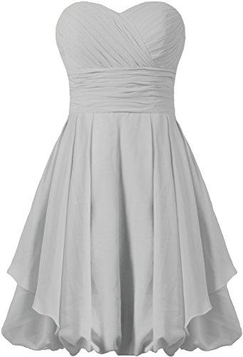 Dress Dresses Party Short Wedding Silver Bridesmaid ANTS Women's wqZPYY