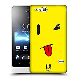 Head Case Designs Teasing Emoticon Kawaii Edition Protective Snap-on Hard Back Case Cover for Sony Xperia go ST27i